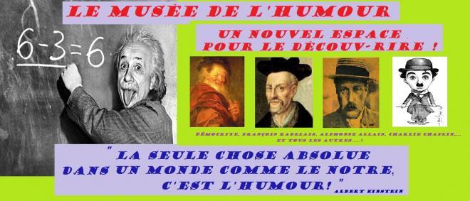 Einstein formule tableau musee humour 3