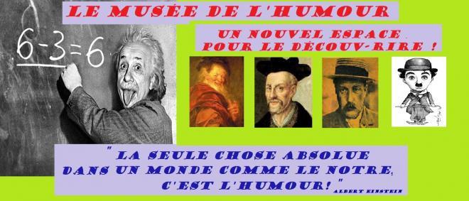 Einstein formule tableau musee humour