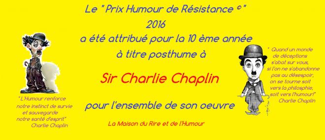 Prix humour de resistance 2016
