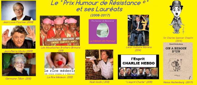 Prix humour de resistance laureats 2017