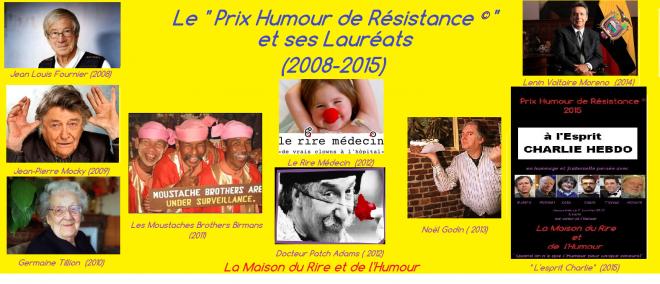 Prix humour de resistance laureats